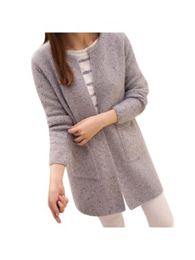 EFINNY Women?s Long Sleeve Knitted Loose Casual Cardigan