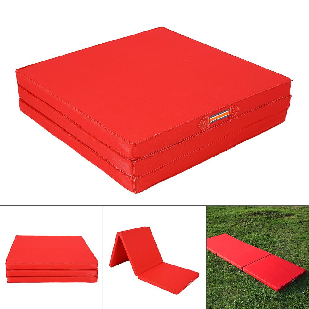 Thick Folding Panel Gymnastics Mat Gym Exercise Yoga Tri Mat Pad, Gymnastics Mat