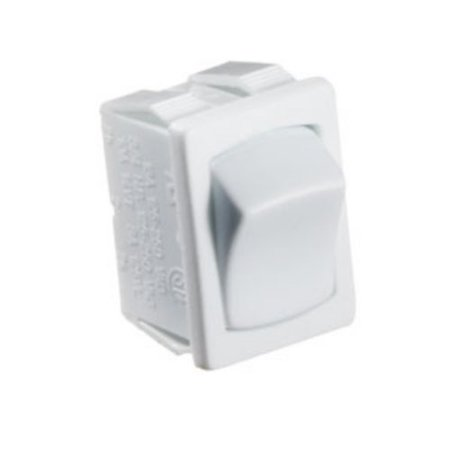 RV Designer Collection S435 White 10 Amp Rocker Switch