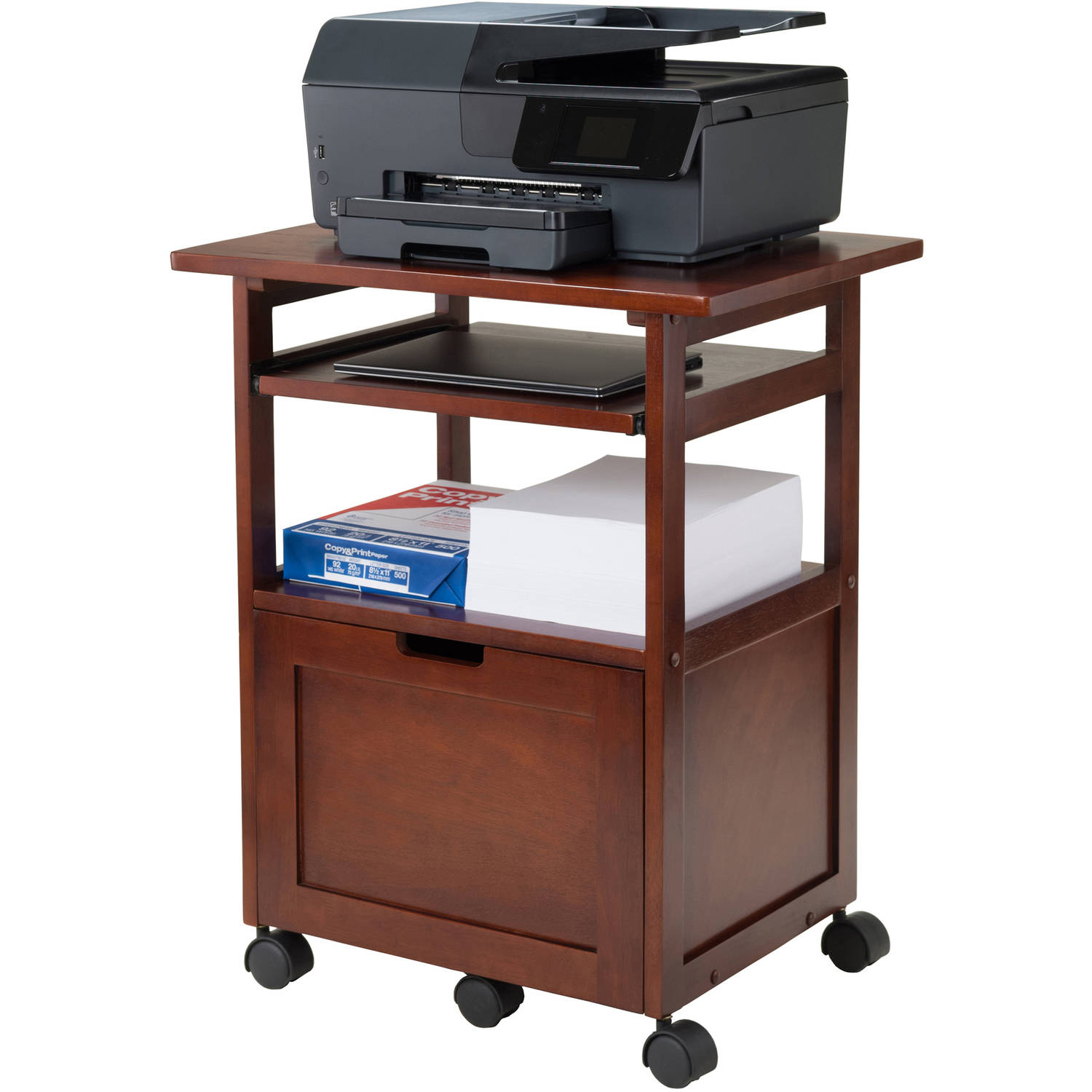 shop stand shelf at black in com graphite eurostyle lowes printer pd
