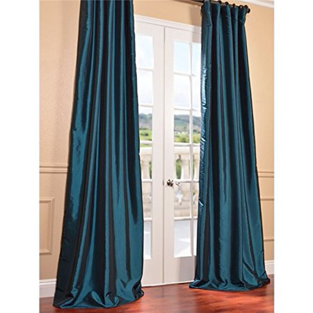 Half Price Drapes PTCH-BO003-108 Blackout Faux Silk Taffeta Curtain, Meditteranean