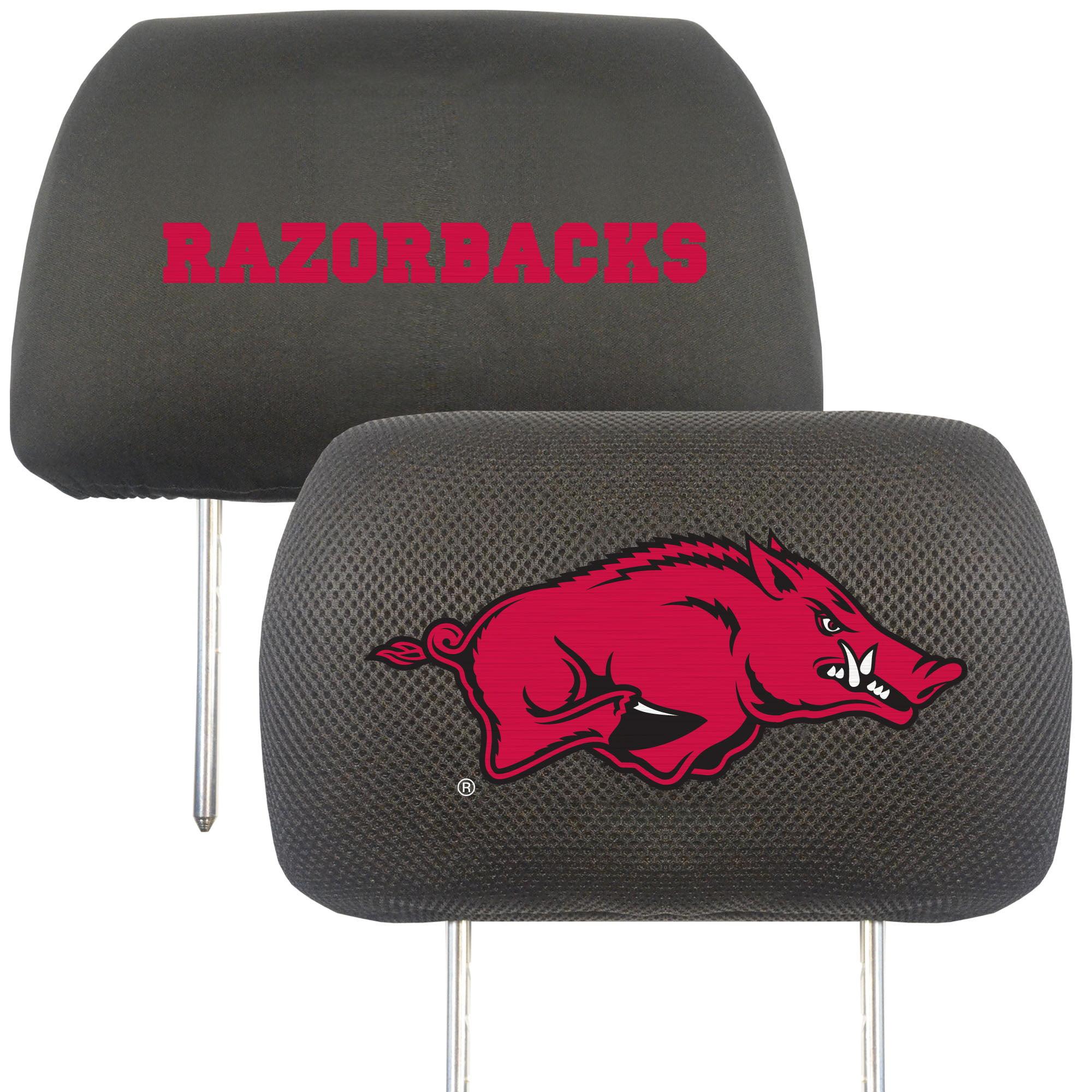 NCAA University of Arkansas Razorbacks Head Rest Cover Automotive Accessory