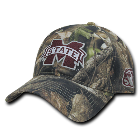 NCAA MSU Mississippi State U Bulldogs Hybricam Camouflage Camo Caps Hats