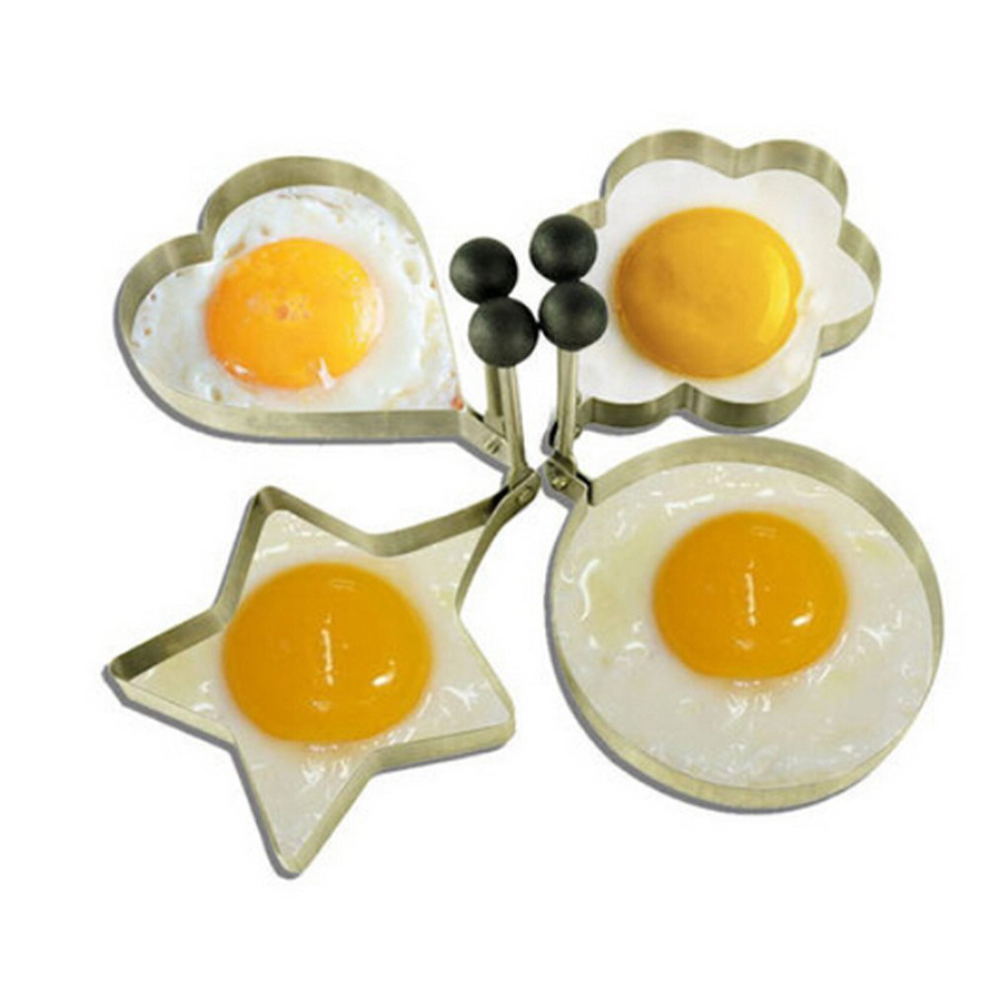 4 Pcs Stainless Steel Non-stick Small Frying Egg Mold Ring Pancake Mould