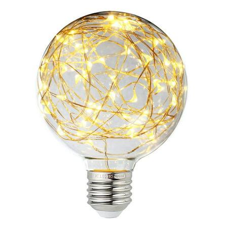 Led Globe Fairy Light Bulb For Ambient Night Lighting E26 Standard Medium Base Edison