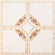 FLOOR TILE NO WAX SELF STICK 12 IN. X 12 IN. FLORAL BLUE/SAND