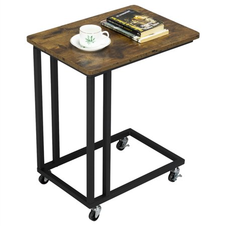 End Tables Nightstand Sofa Bed Chair Side Table Round Accent Stand w/Drawer Tall ()