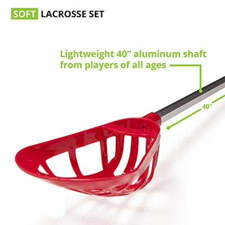 Champion Sports LAXSR Soft Lacrosse Set, White - image 3 of 4