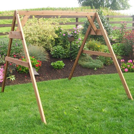 A & L Furniture Western Red Cedar A-Frame Swing Stand for Swing ...