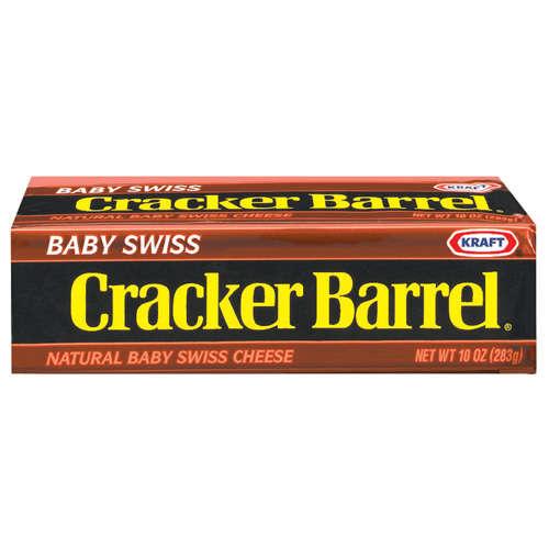 Kraft Cracker Barrel Baby Swiss 10 5 Oz Walmart Com