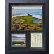 "legends never die ""pebble beach hole #7"" framed photo collage, 11 x 14-inch"