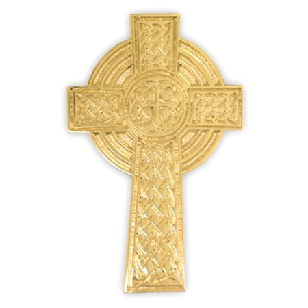 PinMart's Gold Plated Christian High Cross Religious Lapel - Cross Pins