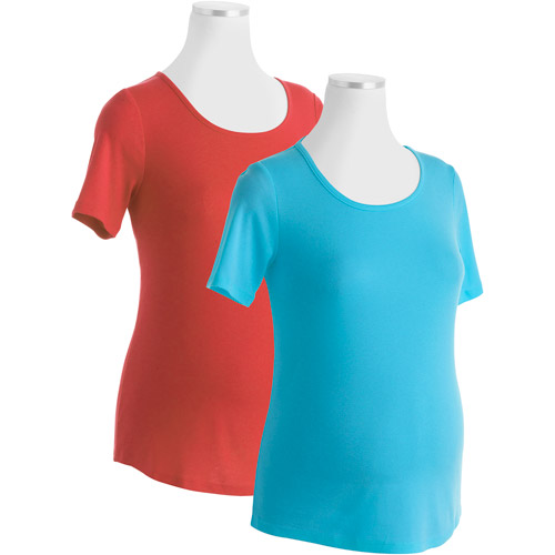 White Stag Maternity Scoopneck Tee, 2-Pack Value Bundle