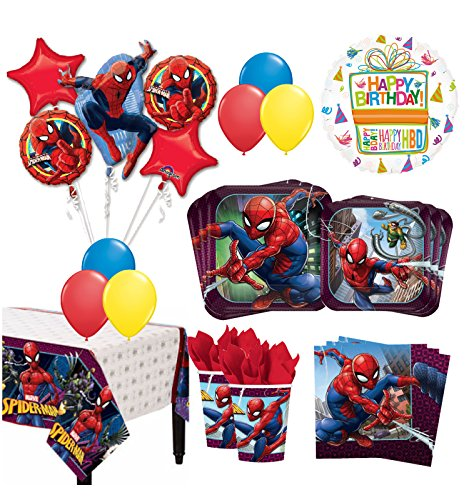 The Ultimate 16 Guest 94pc Spider-Man Birthday Party Supplies by