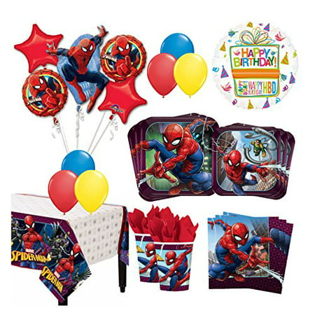 The Ultimate 8 Guest 53pc Spider-Man Birthday Party Supplies and Balloon Decoration Kit