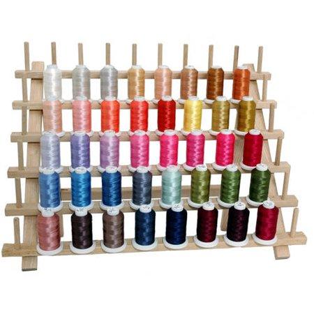 Threadart Polyester Embroidery Thread 40 Spools 500m - Brilliant Colors - Walmart.com