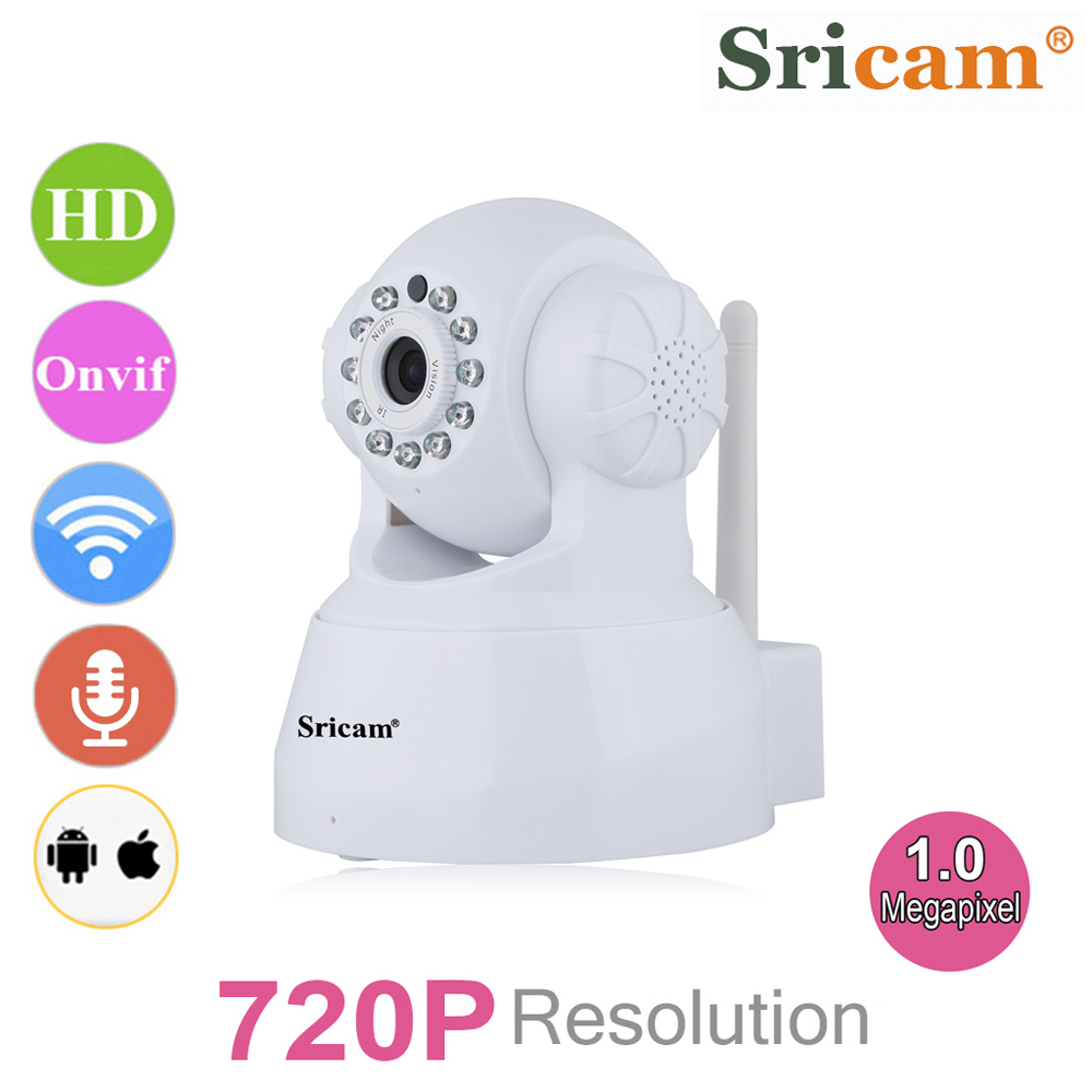 Sricam Wireless 720 HD IR-CUT Network IP Security Camera Indoor P2P WiFi Webcam Two-way Audio