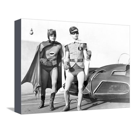 Halloween Batman Art (Batman with Robin in Classic Portrait Stretched Canvas Print Wall Art By Movie Star)