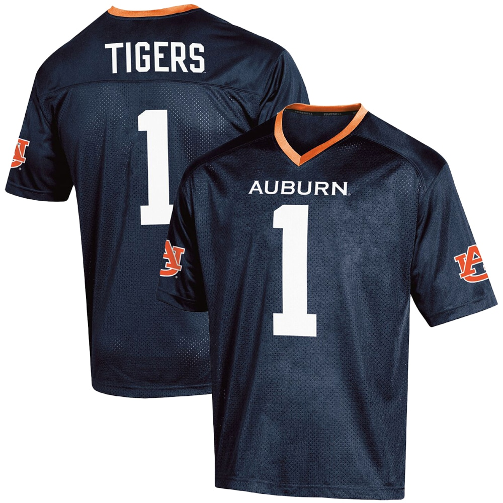 Russell Athletic - Men's Russell Athletic #1 Navy Auburn Tigers Fashion Football Jersey - Walmart.com