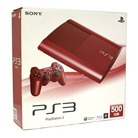 Refurbished Sony PlayStation 3 PS3 500GB Console Red