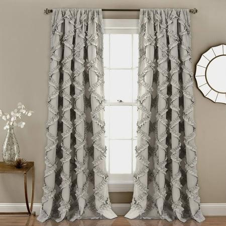 Ruffle Diamond Window Curtain Set