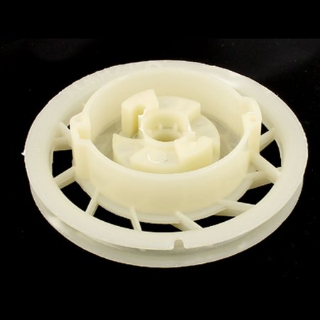 130mm Dia Plastic Pull Wheel Start Recoil Starter Drum Belt Pulley Beige