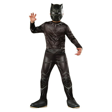 Marvel's Captain America: Civil War - Black Panther Costume for Kids L (Civil War Dress Costume)