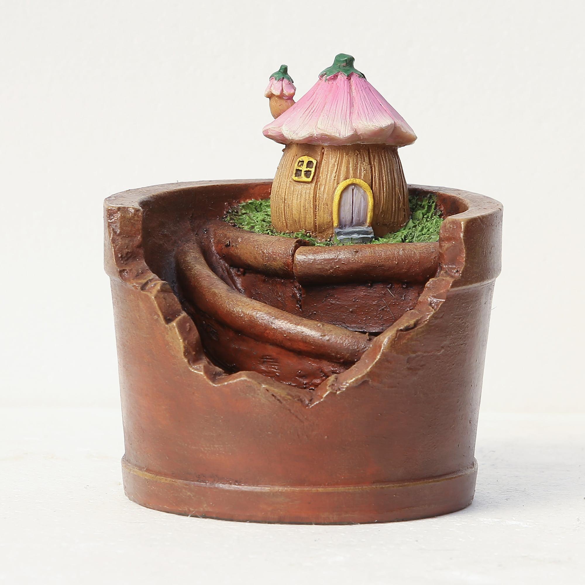 Flower House Planter Miniature Fairy Garden - Walmart.com