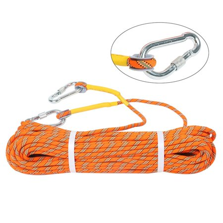 YaeGarden Outdoor Climbing Rope 30M (98ft) Rock Climbing Rope 8MM Diameter Escape Rope Climbing Equipment Fire Rescue Parachute Rope