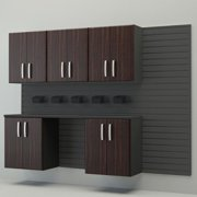 Flow Wall Systems Flow Wall Complete Workstation Brown