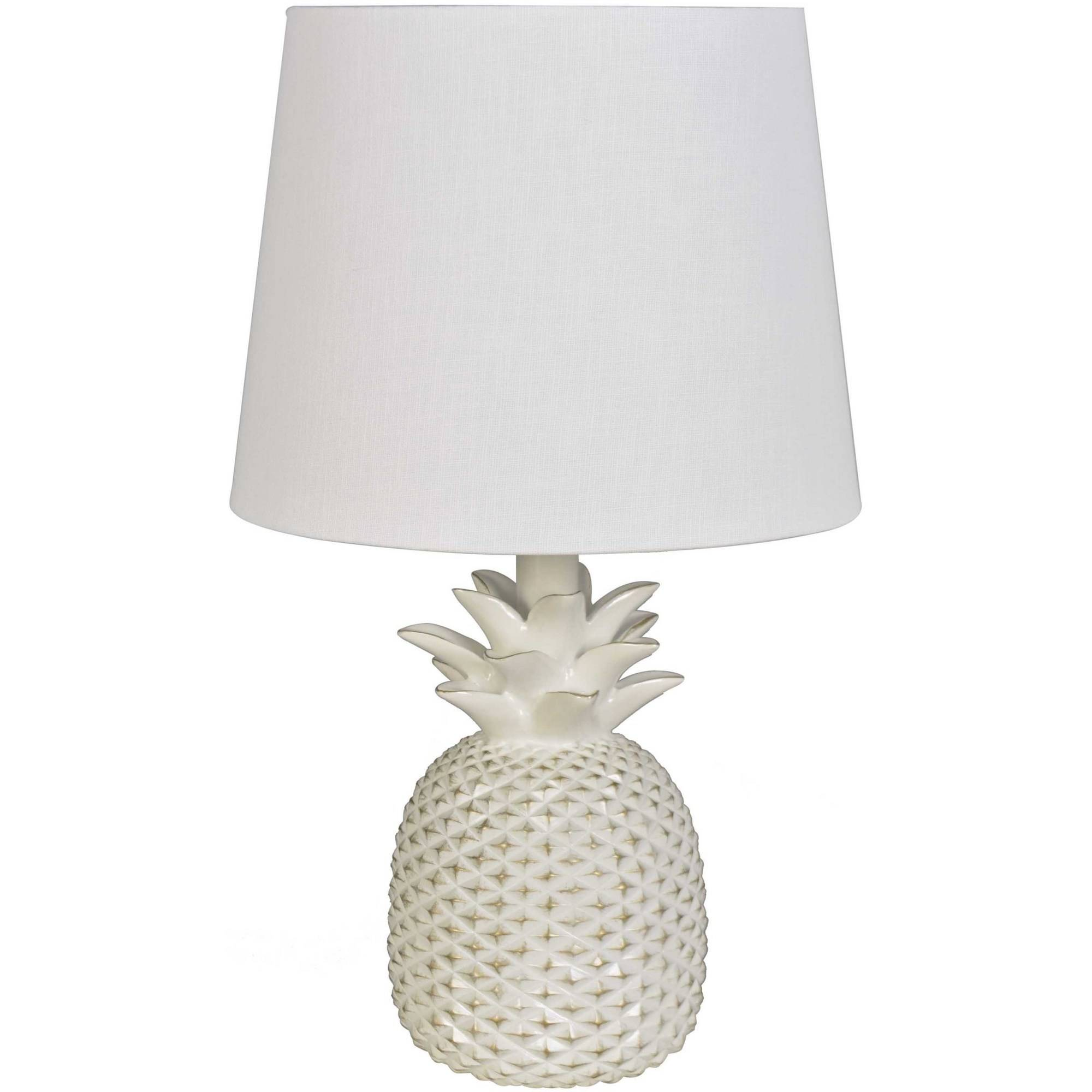 Click here to buy Better Homes and Gardens White Pineapple Table Lamp by Mastercraft Distribution USA Inc.
