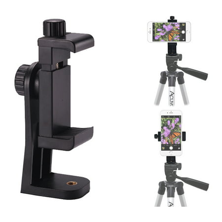 info for 69cbc b18c8 Acuvar Heavy Duty Rotating Smartphone Tripod Mount. Fits iPhone Xs, Xs Max,  Xr, X, 8, 8+, 7, 7 Plus, 6, 6 Plus, 5s Samsung Galaxy, Android, etc.