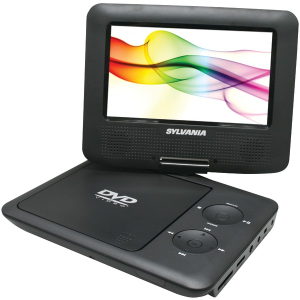 "SYLVANIA SDVD7027 BLACK 7"" Swivel-Screen Portable DVD Pla..."