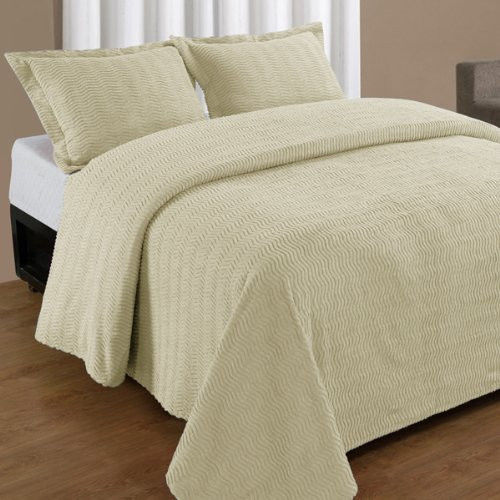 Natick Chenille Bedspread And Pillow Sham Set All Cotton