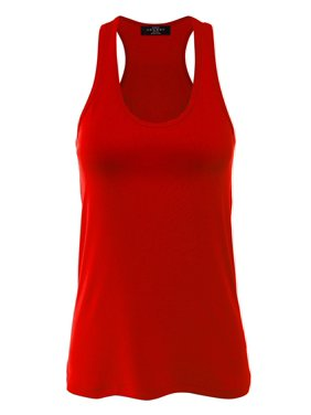 70c1b9964da77 Product Image MBJ Womens Relaxed Racer Tank Top ( S - XXXL )