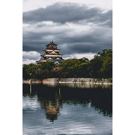 LAMINATED POSTER Outdoors Architecture Lake Landscape Dawn Pagoda Poster Print 24 x 36 ()
