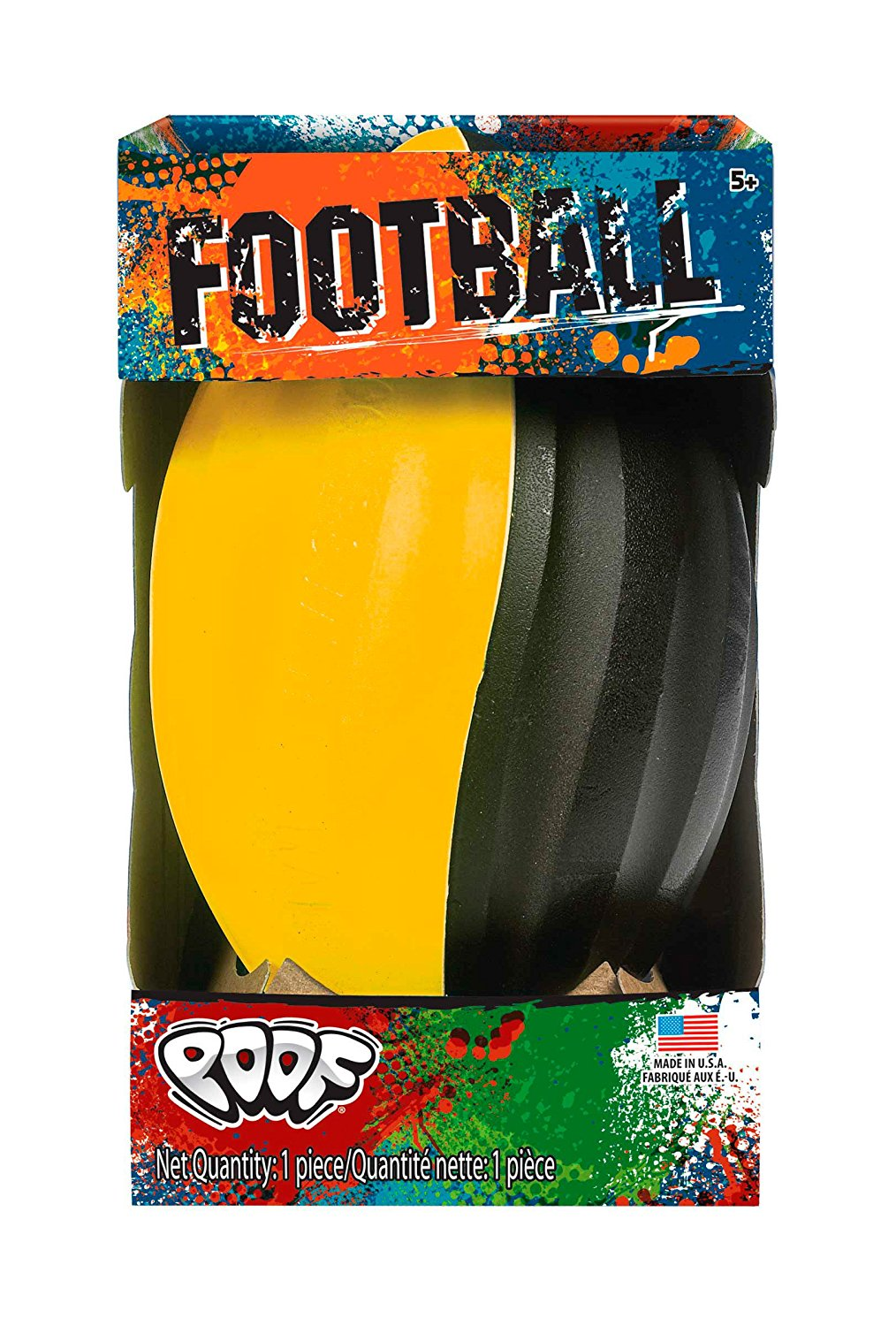 Spiral Football, Soft foam exterior in bright colorWalmartbinations By POOF by
