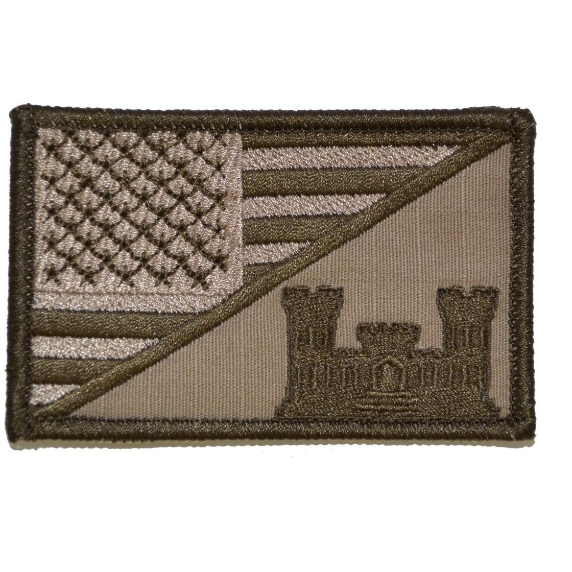 Army Engineer Castle USA Flag - 2.25x3.5 Patch