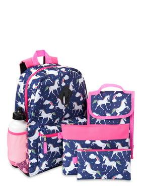 Acc22 Rainbow Unicorns 6 Piece Backpack Set