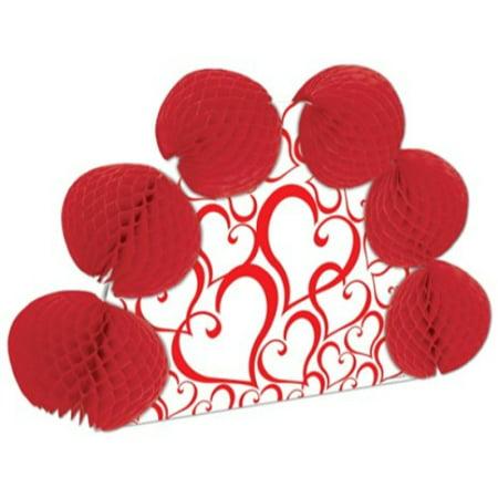 Valentine Pop-Over Centerpiece (different design front & back) Party Accessory  (1 count) (1/Pkg) - Valentine Accessories