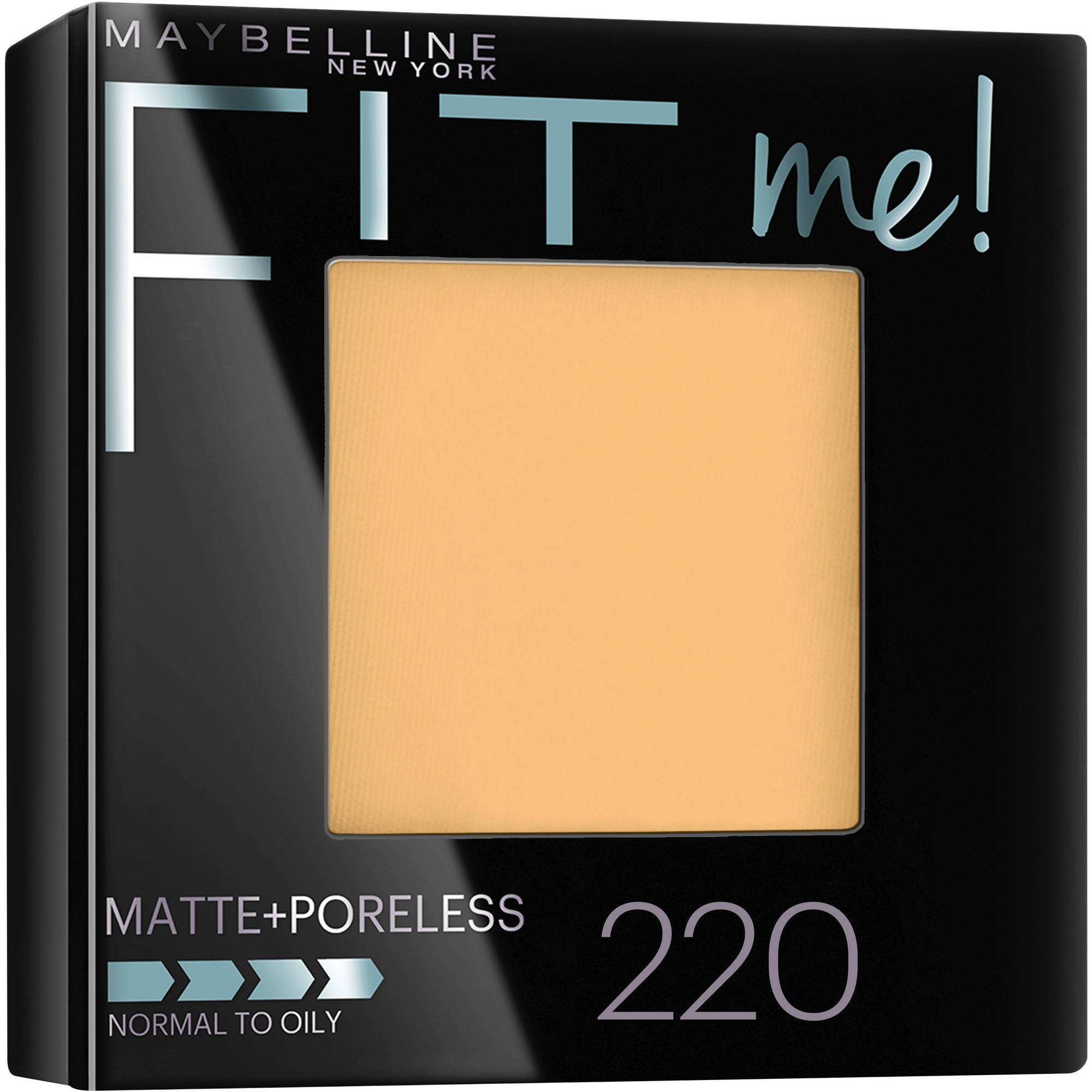 Maybelline New York Fit Me! Matte + Poreless Foundation Powder, 220 Natural Beige