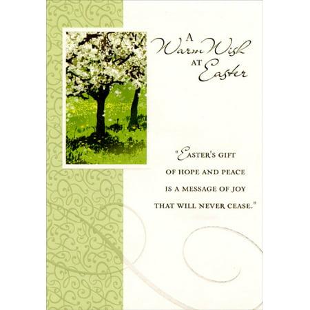 Easter Blossoms (Designer Greetings Cherry Blossom Tree Religious Easter Card )