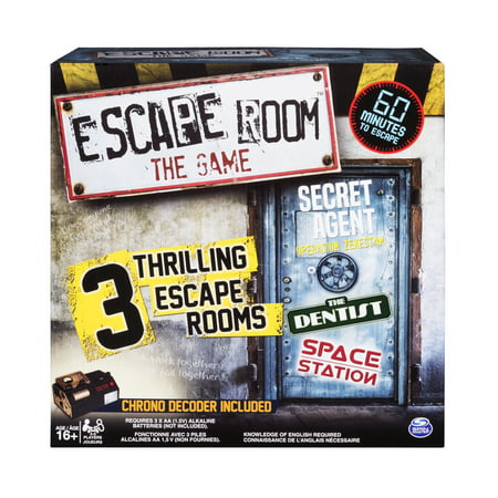 Spin Master Games - Escape Room The Game with 3 Thrilling Escape Rooms to Play, for Ages 16 and Up - Halloween Party Games For All Ages