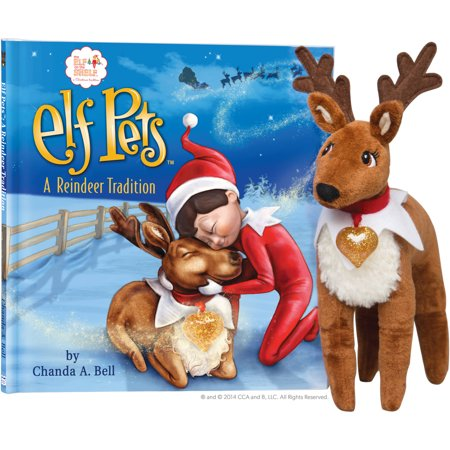 """The Elf on the Shelf: A Reindeer Tradition Book & 9"""" Plush Reindeer"""