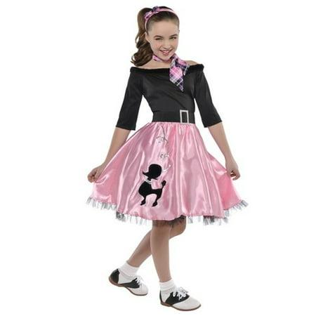 Miss Sock Hop Costume Girls Toddler 3-4 Costumes USA](Hot Girls Costumes)