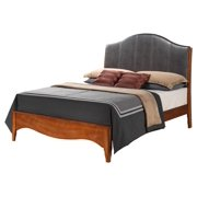 Leather Panel Headboard Bed (Queen: 83 in. L x 64 in. W x 56 in. H (96 lbs.))