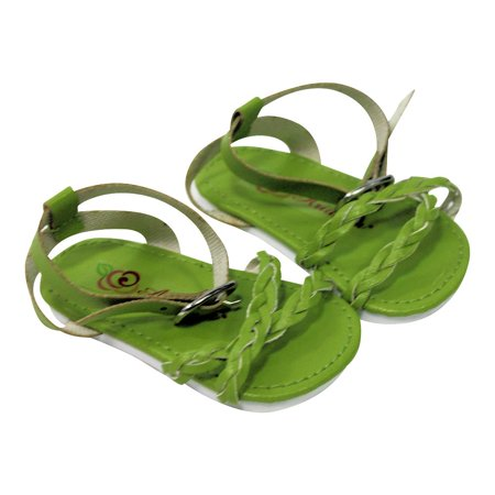 Image of Arianna Lime Braided Sandal Fits Most 18 inch Dolls