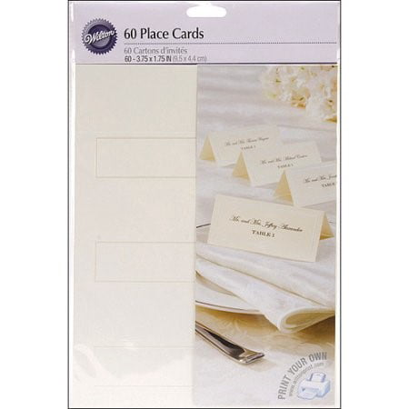 Wilton Place Cards, Ivory, 60 Ct