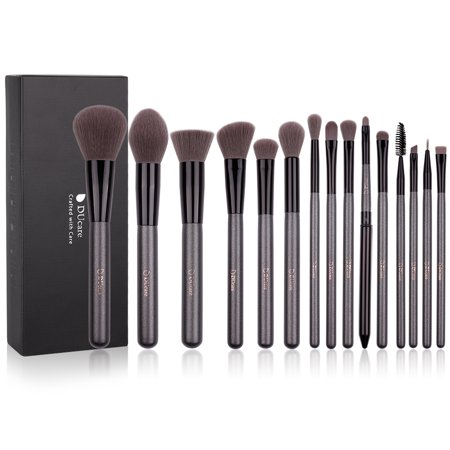 DUcare Makeup Brush Set 15pcs Premium Synthetic Foundation Powder Concealers Make up Brushes -