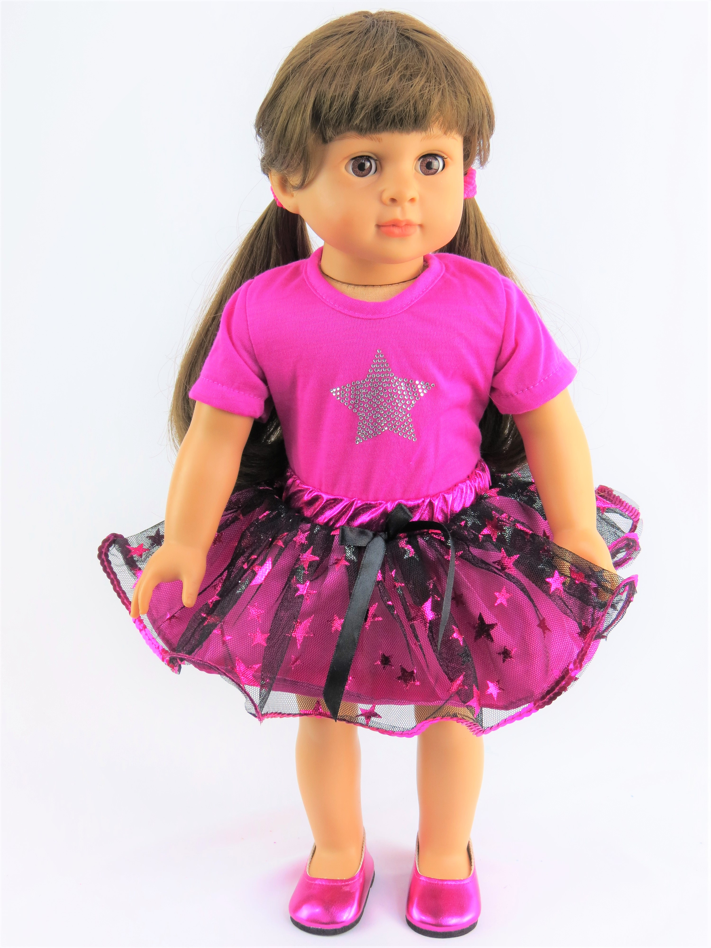 "Super Star Tutu Skirt Set | Fits 18"" American Girl Dolls, Madame Alexander, Our Generation, etc. 